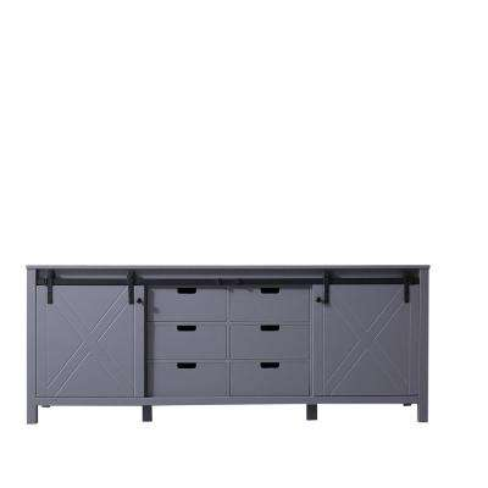 Marsyas 84 in. Bath Vanity Cabinet Only in Dark Grey