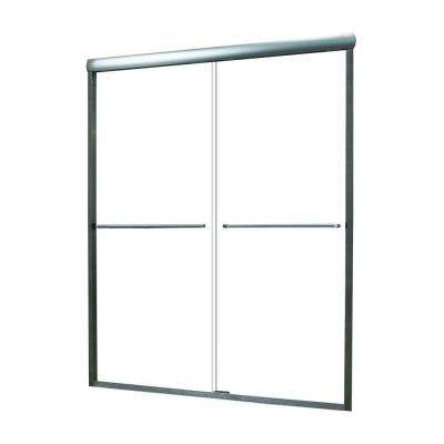 Cove 44 in. to 48 in. x 72 in. Semi-Framed Sliding Bypass Shower Door in Silver with 1/4 in. Reeded Glass
