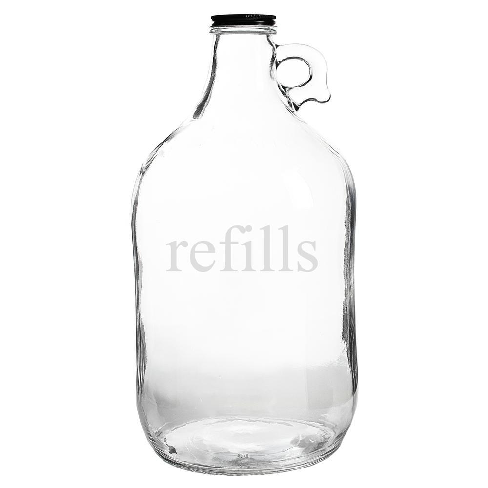 Refills 64 oz. Glass Growler