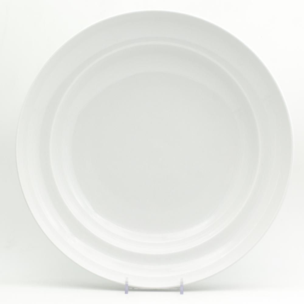 Euro Ceramica White Essential 13 in. Serving Bowl WHT-868113