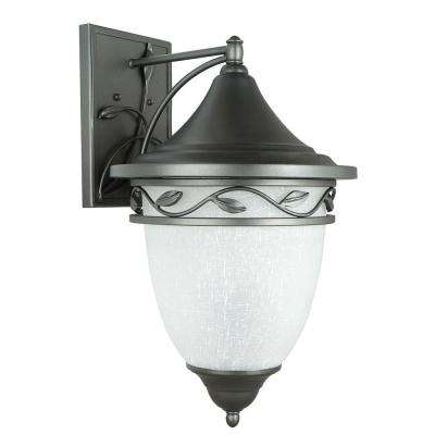Holifield Iron 3-Light Natural Iron Outdoor Wall Lantern