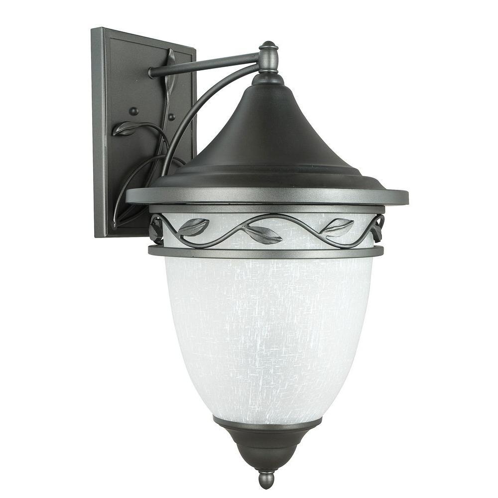 Holifield Iron 3-Light Natural Iron Outdoor Wall Lantern