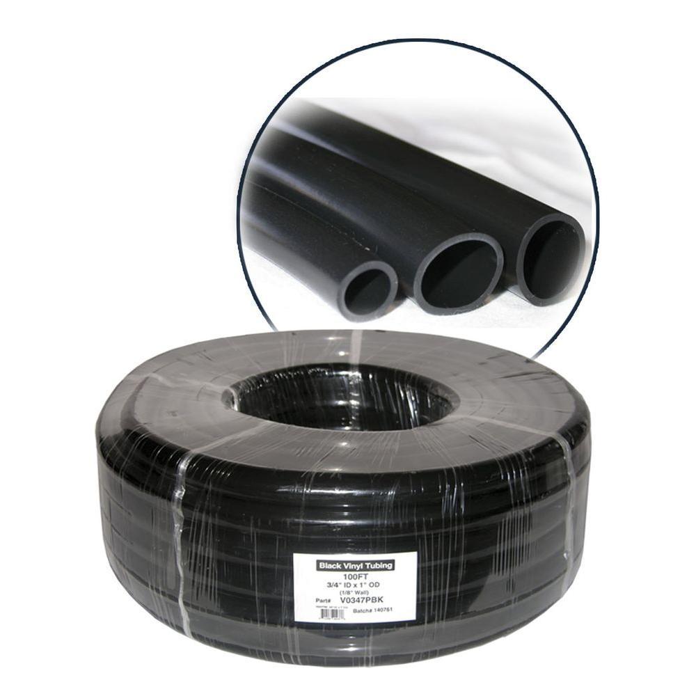 1/4 in. ID x 3/8 in. OD x 1/16 in. Wall PVC in Black Tubing Coil