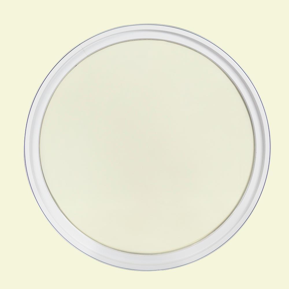 18 in. x 18 in. Round White 6-9/16 in. Jamb 3-1/2 in. Interior Trim Geometric Aluminum Clad Wood Window