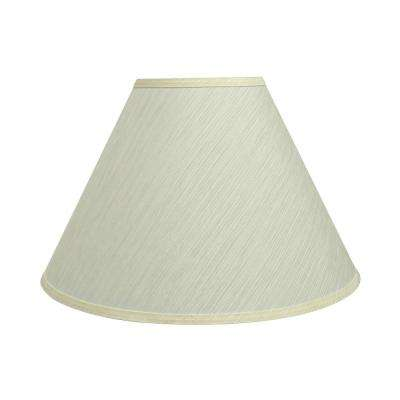 18 in. x 12.5 in. Eggshell Hardback Empire Lamp Shade
