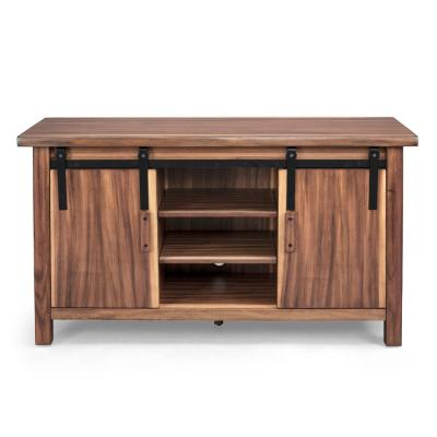 Forest Retreat 56 in. Brown Teak Wood TV Stand