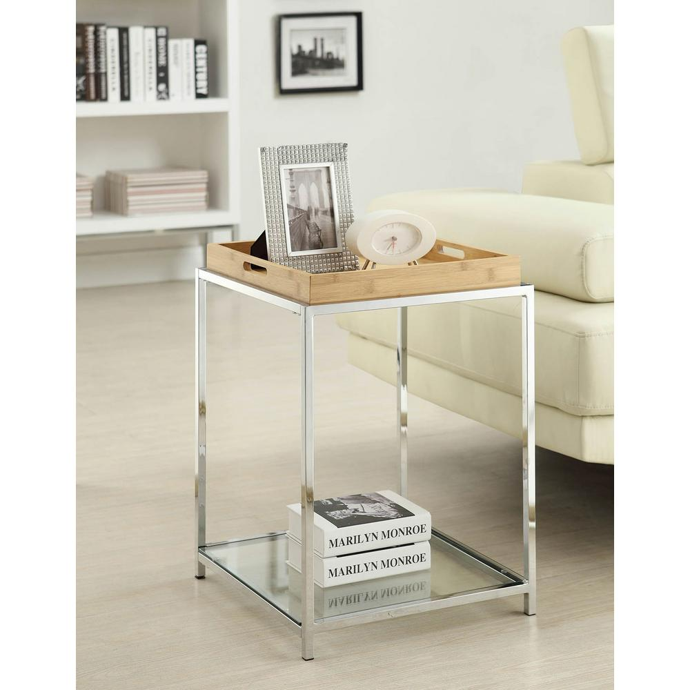 Convenience Concepts Palm Beach Bamboo End Table