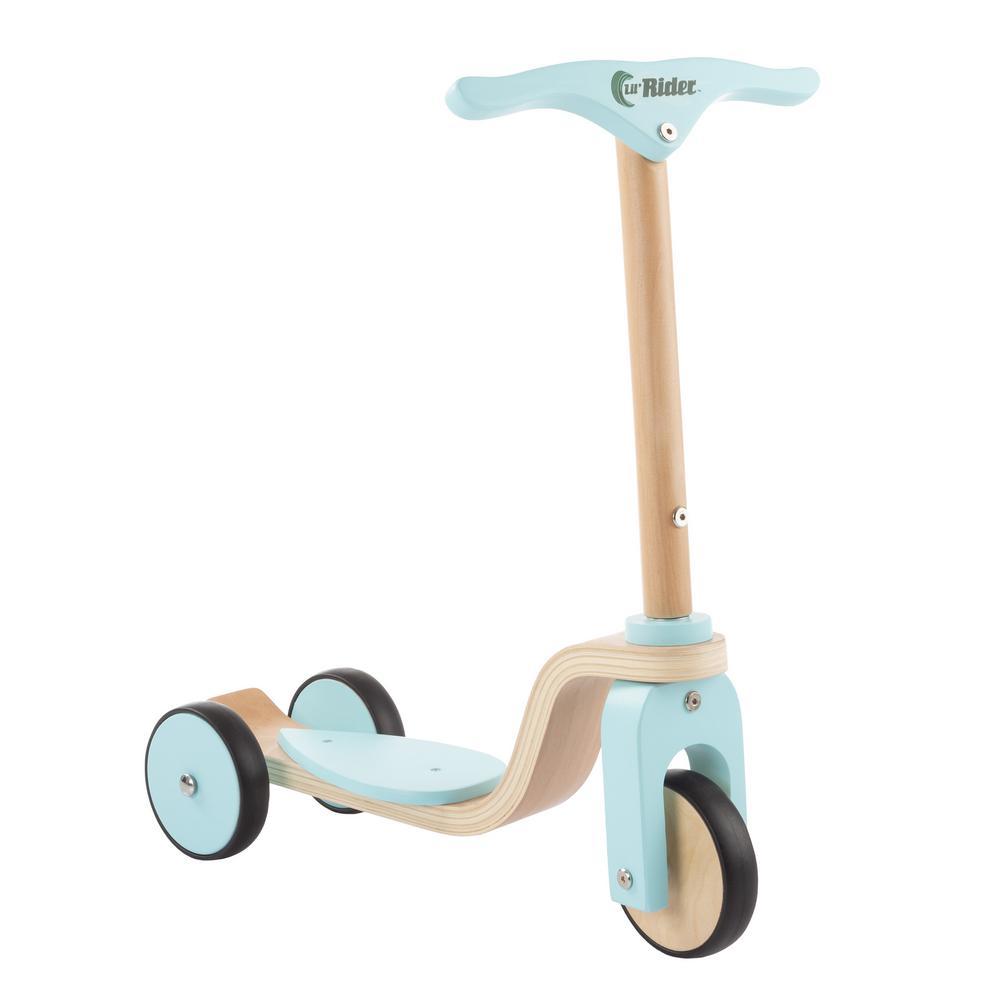 3-Wheel Wooden Kick Scooter