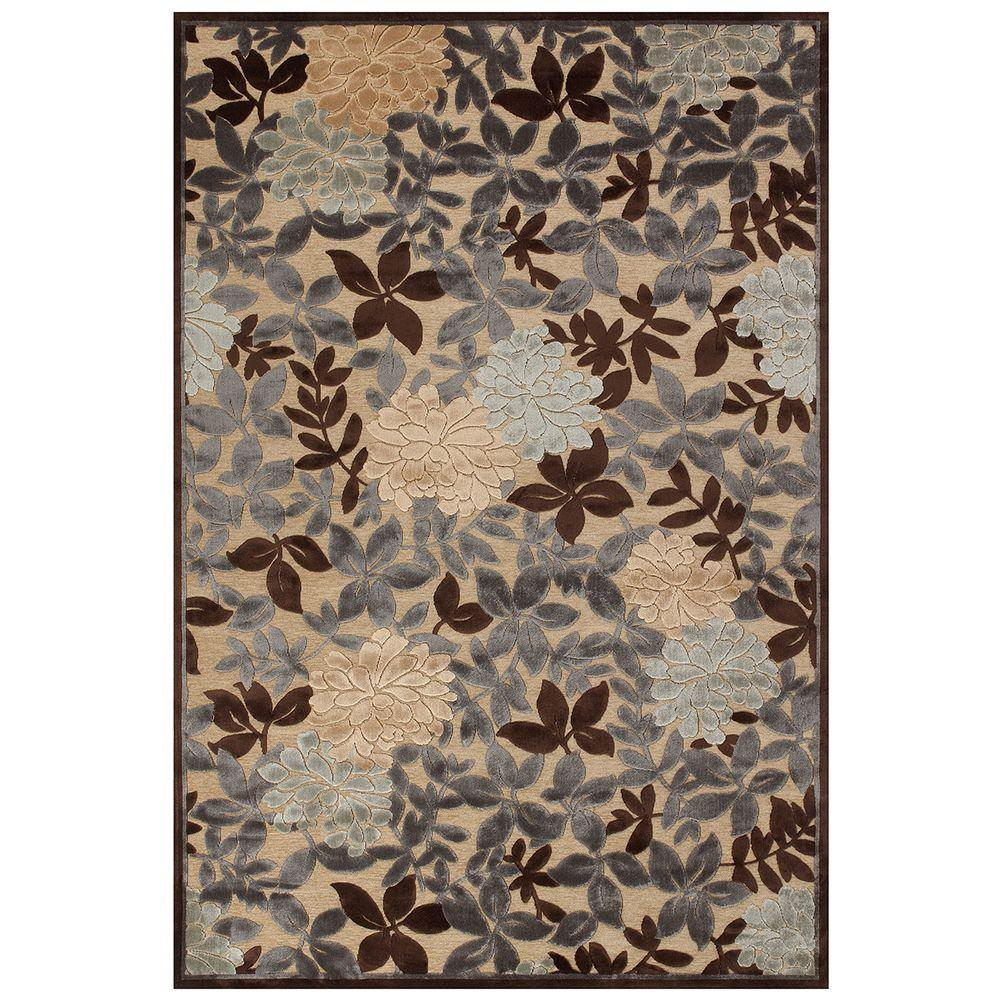 Feizy Saphir Ivory/Dark Gray 2 ft. 2 in. x 4 ft. Indoor Accent Rug