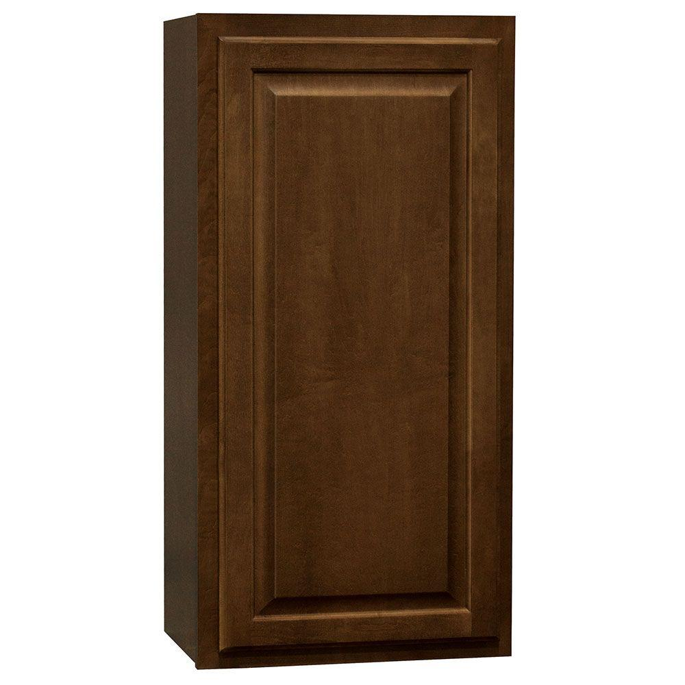 Hampton bay hampton assembled 18x36x12 in wall kitchen for Kitchen cabinets 36 x 18