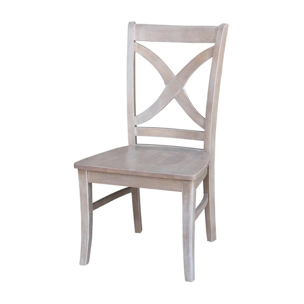 international concepts salerno weathered gray wood dining chair (set of)cp  the home depot. international concepts salerno weathered gray wood dining chair