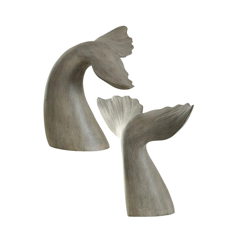 StyleCraft Melville Finish Gray Whale Tail Book Ends (Set of 2) was $96.99 now $30.32 (69.0% off)