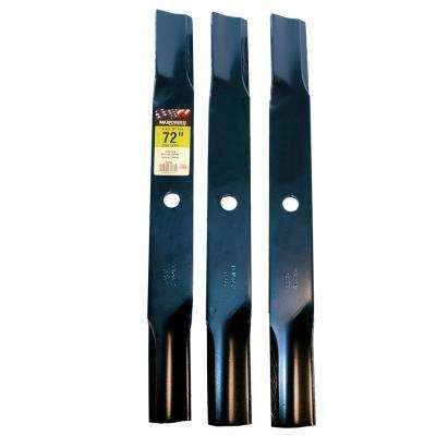 72 in. Mower Blade Set for John Deere Mower (3-Pack)