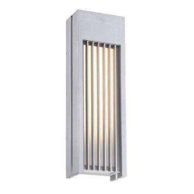 Midrise 1-Light Sand Silver LED Outdoor Light Sconce