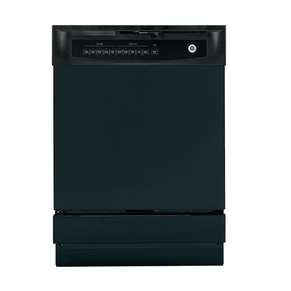 Ge front control dishwasher in black gsd4000kbb the home depot - Built in microwave home depot ...