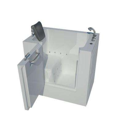 3.4 ft. Right Drain Walk-In Air Bath Tub in White
