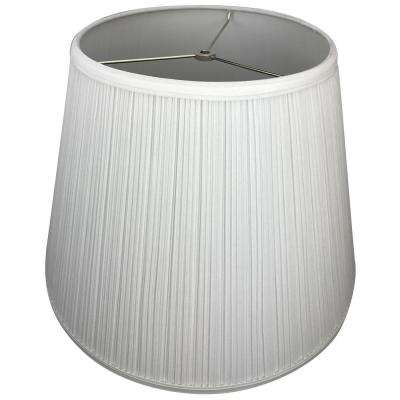 11 in. Top Diameter x 18 in. Bottom Diameter x 13 in. Slant Pleated Mushroom White Empire Lamp Shade