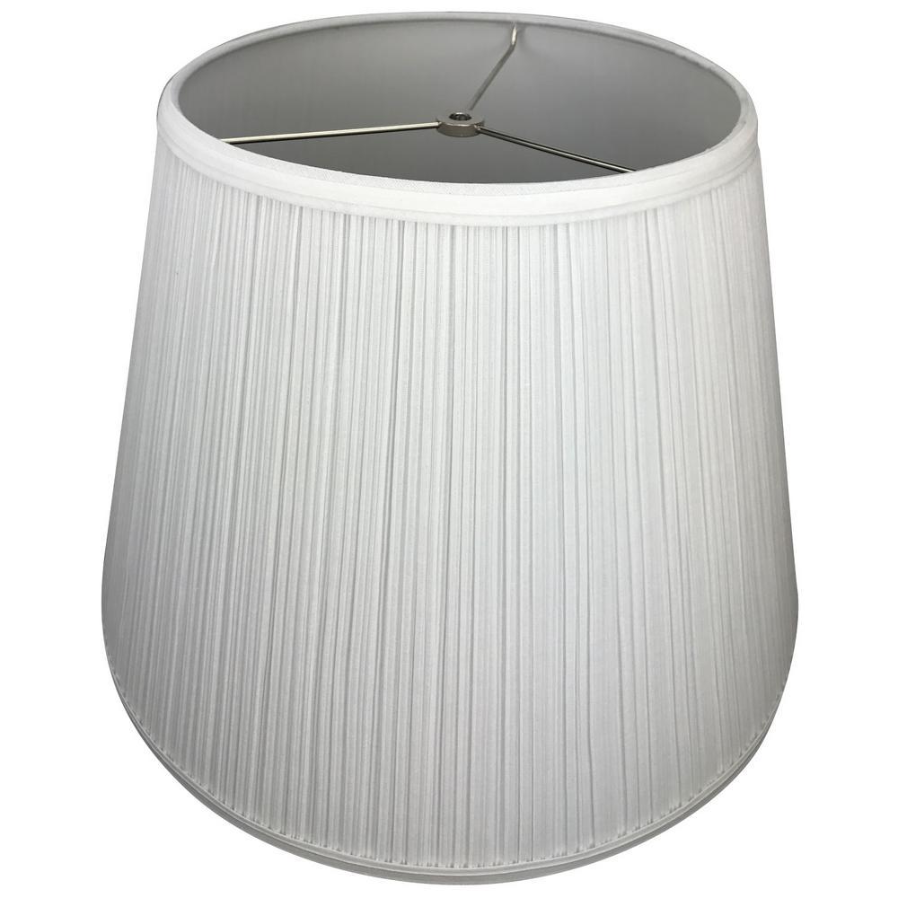 11 in. Top Diameter x 18 in. Bottom Diameter x 13 in. Slant Pleated Mushroom White Empire Lamp Shade
