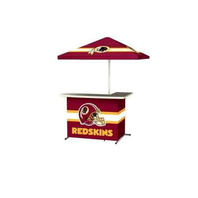 Washington Redskins All-Weather L-Shaped Patio Bar with 6 ft. Umbrella