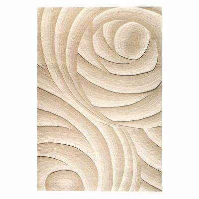 Optics Beige 7 ft. 6 in. x 9 ft. 6 in. Area Rug