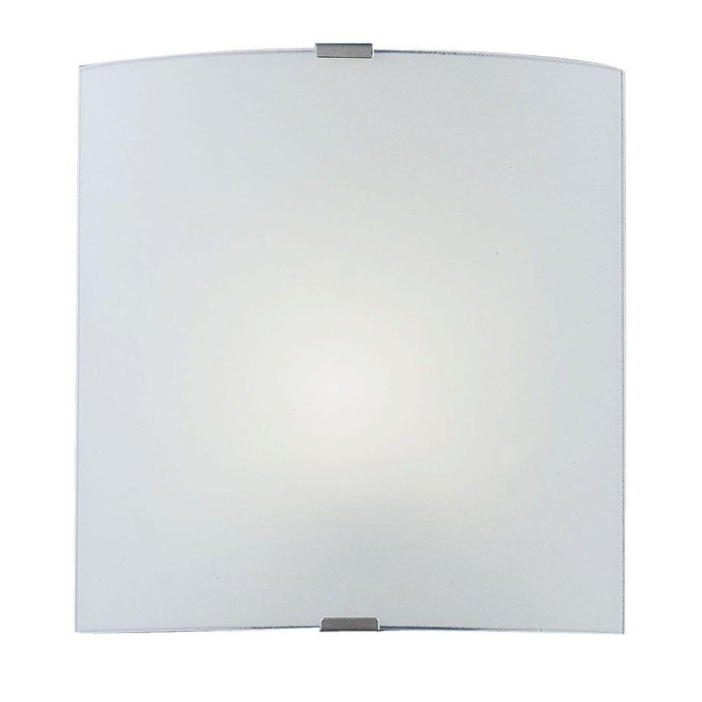 Eglo Grafik 1-Light Chrome and Satin Wall/Ceiling Surface Mount Light