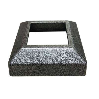 3 in. x 3 in. Silver Vein Aluminum EZ Post Low Profile Base Cover