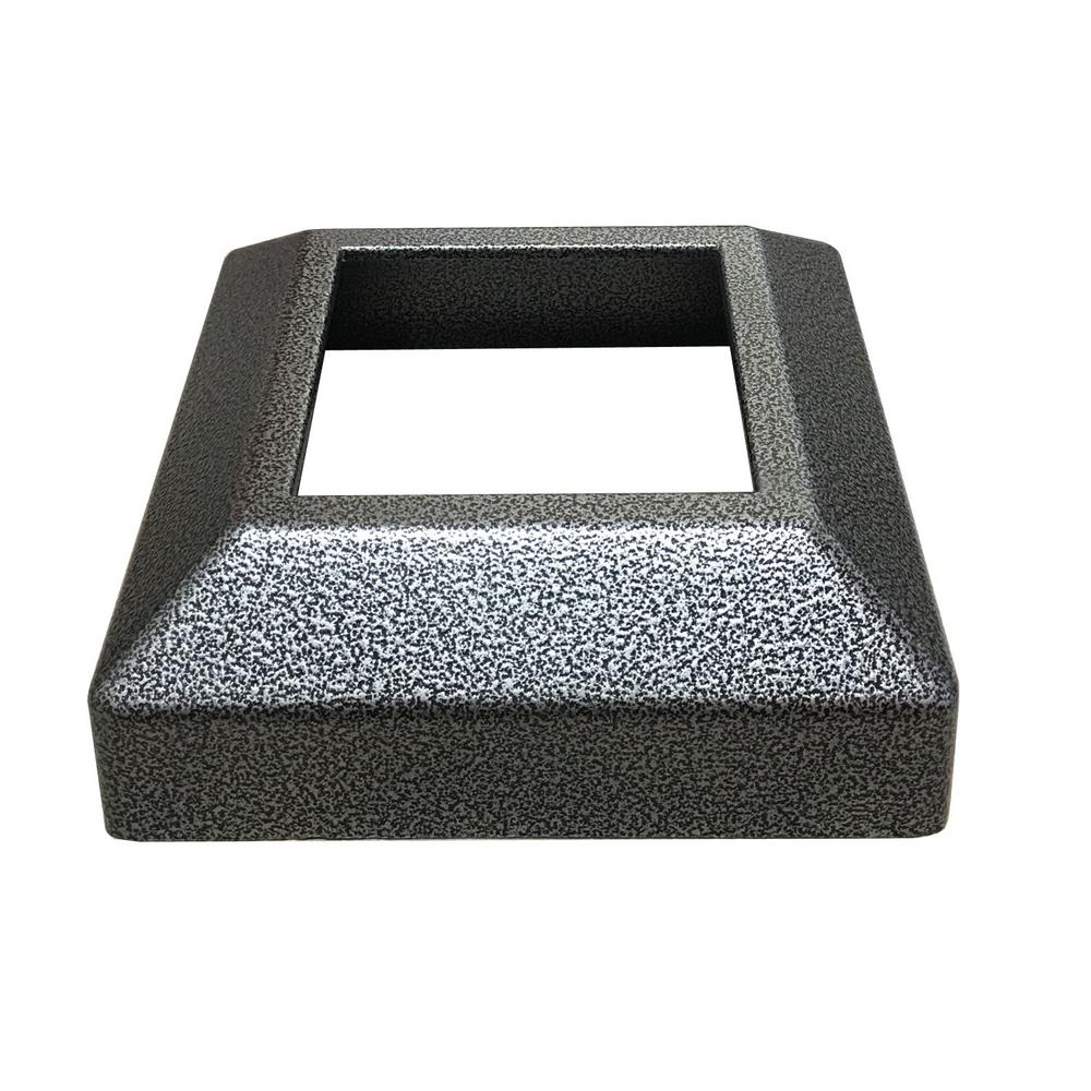 EZ Handrail 3 in. x 3 in. Silver Vein Aluminum EZ Post Low Profile Base Cover