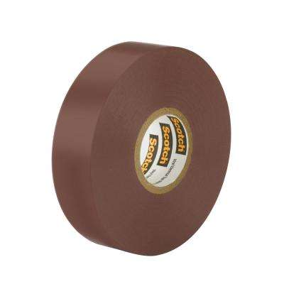 Scotch 3/4 in x 66 ft x 0.007 in. #35 Vinyl Electrical Tape, Brown