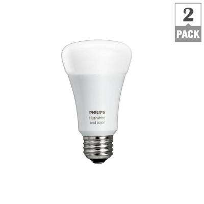 Hue White and Color Ambiance 60-Watt Equivalent A19 LED Smart Light Bulb (2-Pack)