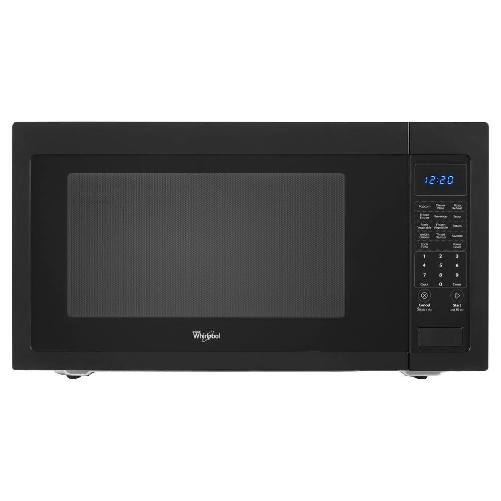 Whirlpool 2.2 cu. ft. Countertop Microwave in Black, Built-In Capable with Sensor Cooking