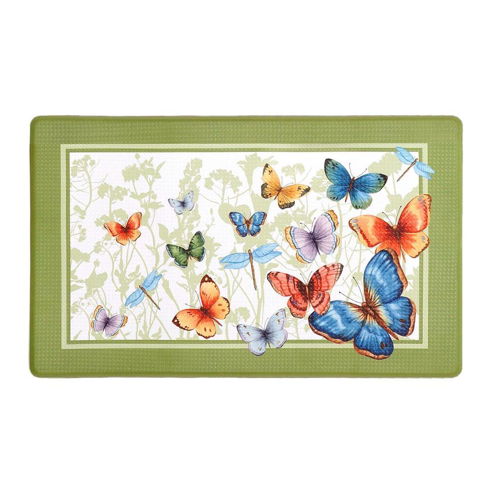 Butterflies 18 in. x 30 in. Anti-Fatigue Mat