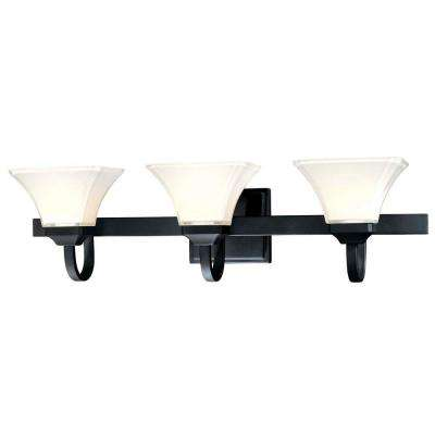 Agilis 3-Light Black Bath Light