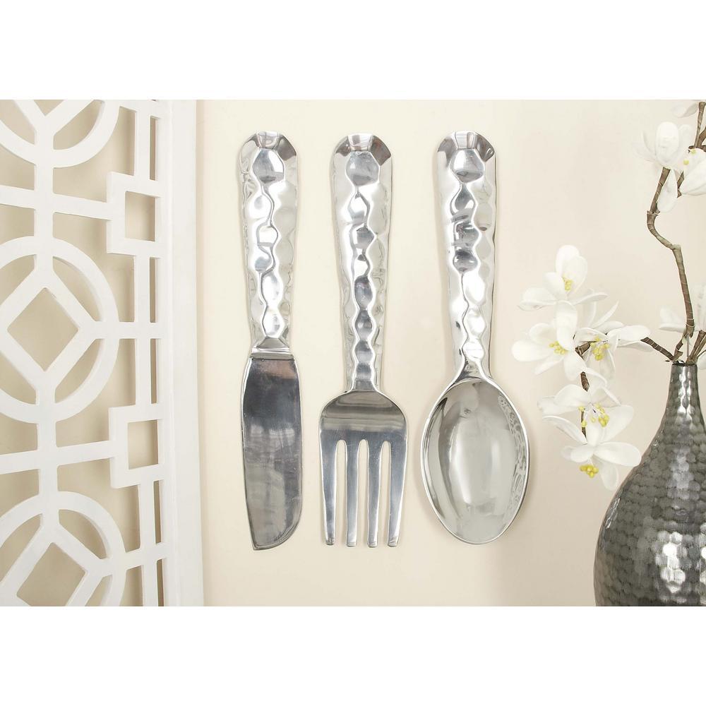 Polished Silver Modern Aluminum Fork Knife