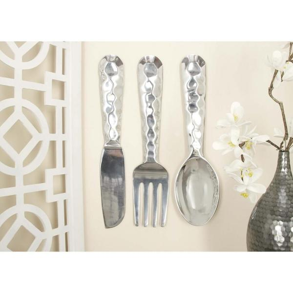 Large Silver Fork And Spoon Wall Decor from images.homedepot-static.com