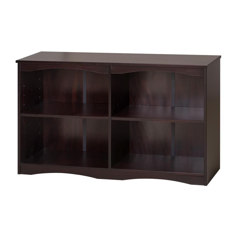 Essentials Cappuccino 51 in. W Wooden Bookcase