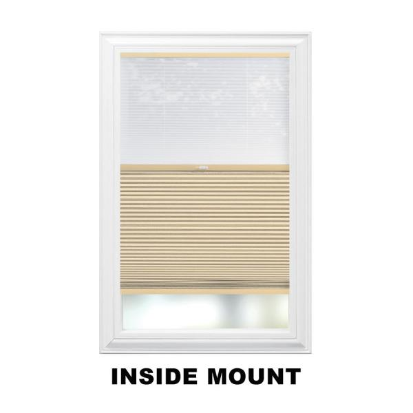Home Decorators Collection Sheer White Mojave 9 16 In Cordless Day Night Cellular Shade 26 5 In W X 72 In L Actual Size 26 125 In W X 72 In L 10793478934751 The Home Depot