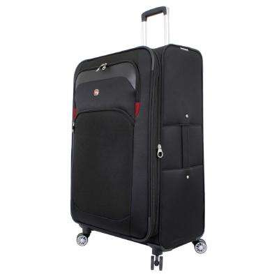 29 in. Upright Spinner Suitcase in Black