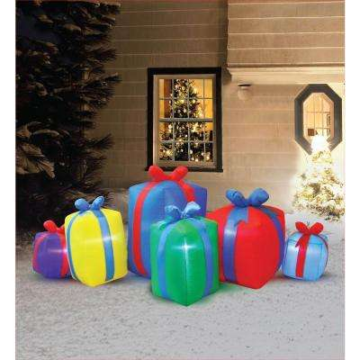 8 ft. Inflatable Row of Presents Non Metallic