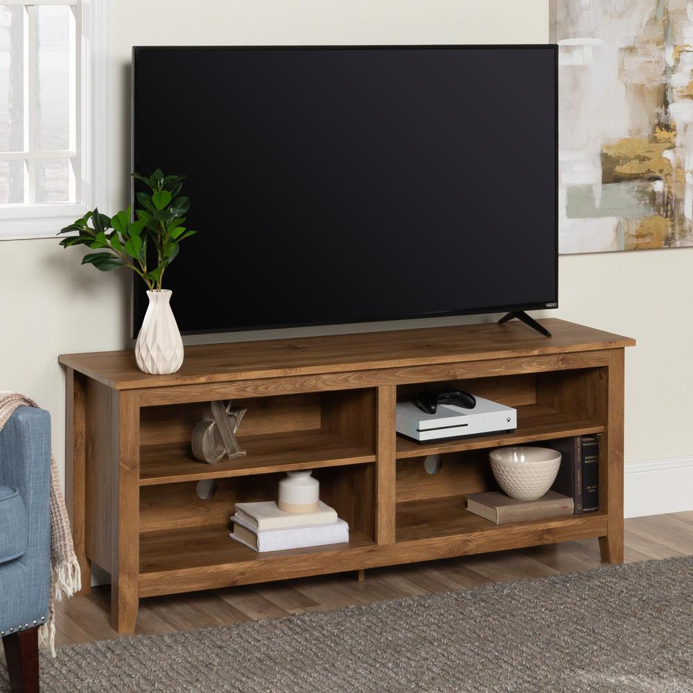Walker Edison Furniture Company Essential Barnwood Entertainment Center