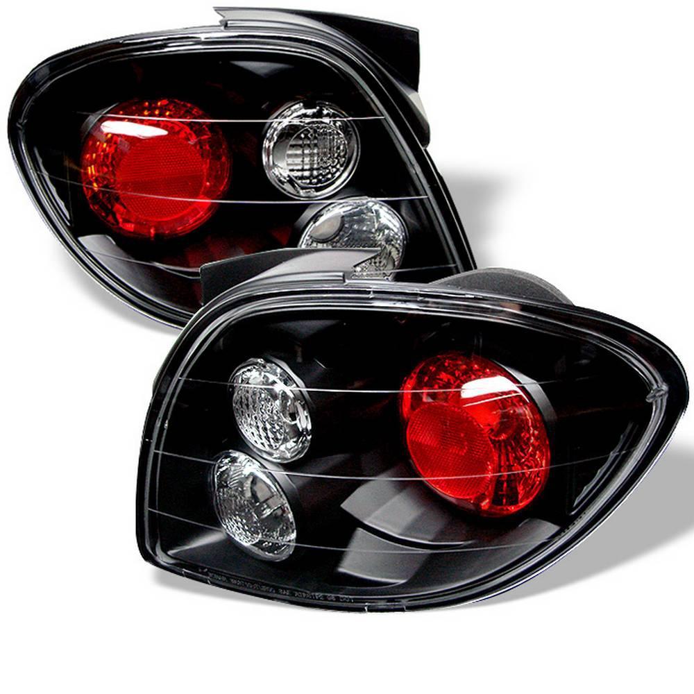 Hyundai Tiburon 00 02 Euro Style Tail Lights Black