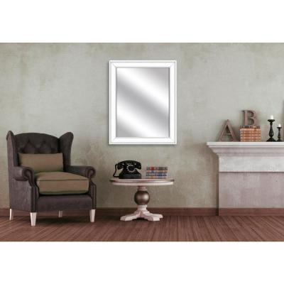 31.5 in. x 25.5 in. White Framed Mirror