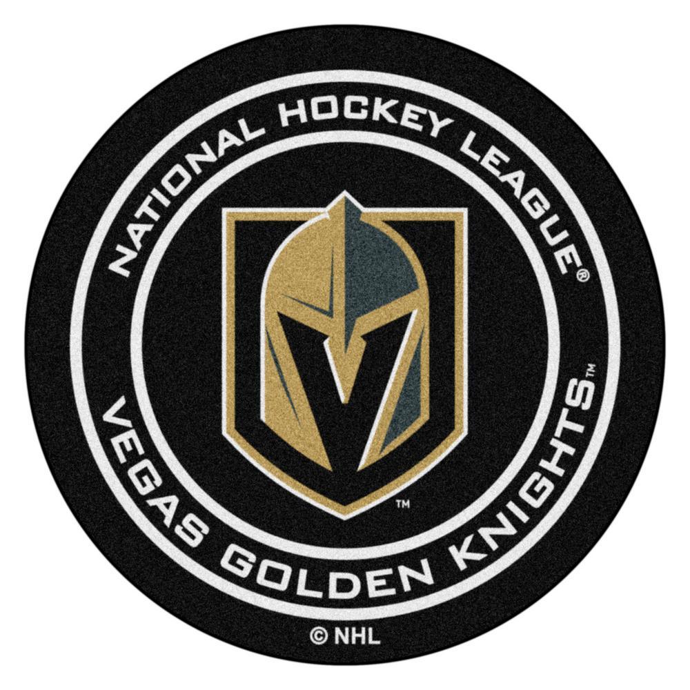Vegas Golden Knights 27 in. Round Puck Mat Area Rug