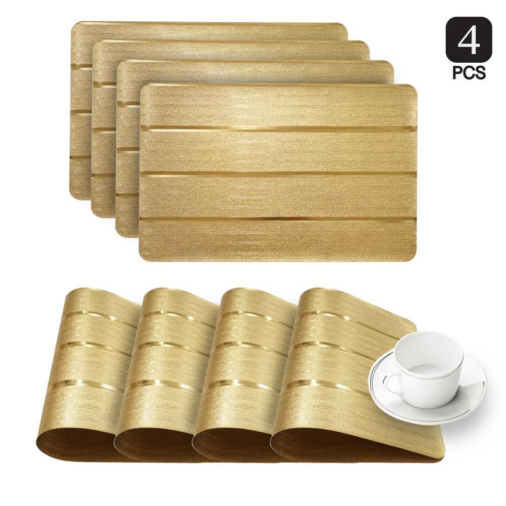 Park Avenue Gold Metallic Placemat (Set of 4)