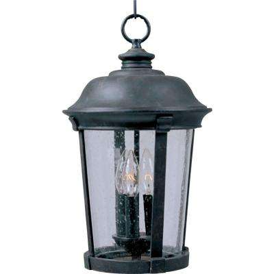 Dover Vivex 3-Light Bronze Outdoor Hanging Lantern