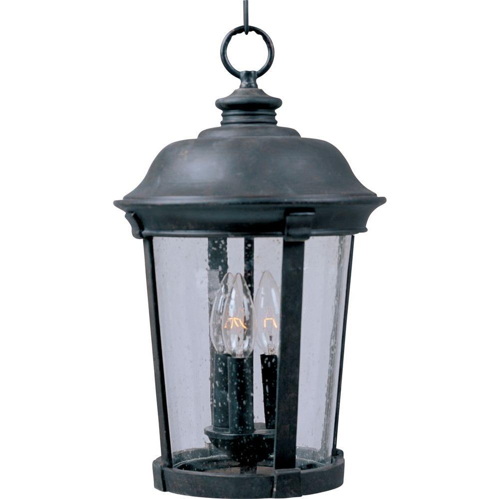 Dover Vivex 3-Light Bronze Outdoor Hanging Lantern