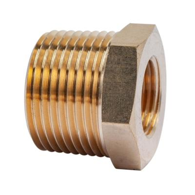 3/4 in. MIP x 3/8 in. FIP Brass Pipe Hex Bushing Fitting (5-Pack)