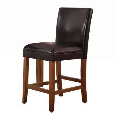 luxury brownless 24 in. Brown and Tan Bar Stool