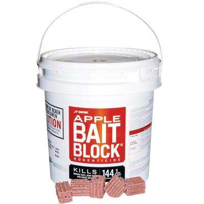 Bait Block Apple Flavor Anticoagulant Rodenticide for Mice and Rats (144-Pack)