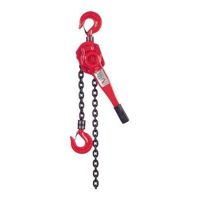 3/4 Ton 10 ft. Lever Chain Hoist