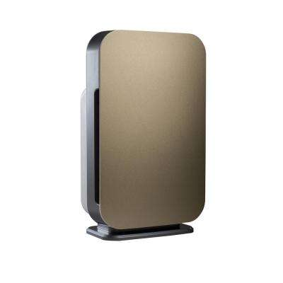 Customizable Air Purifier with HEPA-Silver Filter to Remove Allergies Mold and Bacteria in Gold